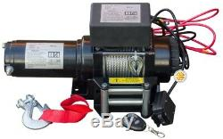 Electric Winch 12V 4000lbs with Kevlar Cable