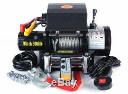 Electric Winch 12V 6000lbs with Steel Rope