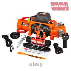 Electric Winch 12,000lb Two Speed 12v Dyneema + Wireless Fast Winch