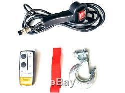 Electric Winch 12v 2721kg/6000lb 3300w, Length 20m Diam. 7.2mm