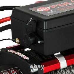 Electric Winch 13500 Lb 12V Synthetic Rope Winchmax 4x4 / Recovery Wireless 93ft
