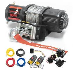 Electric Winch 4500LBS Steel Cable Recovery for ATV UTE Boat withRemote Control