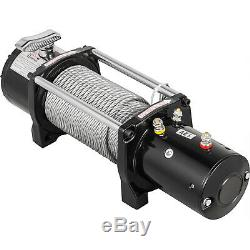 Electric Winch 8000LBS 12V 94FT Steel Cable Truck Trailer Towing Off Road 4WD