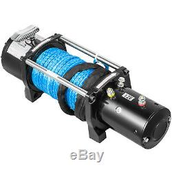 Electric Winch 8000LBS 12V Synthetic Cable Truck Trailer Towing Off Road 4WD