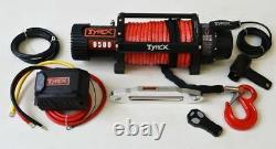 Electric Winch 9500lb 12v Synthetic Winch Rope Wireless Off Road 4x4 Recovery