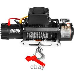 Electric Winch 9500lbs 12V 85ft Synthetic Rope 4WD ATV UTV Winch Towing Truck