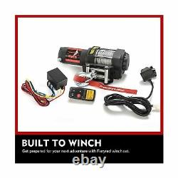 FIERYRED Electric 12V 3500lb Winch, Steel Cable Winch Kits for UTV ATV with B