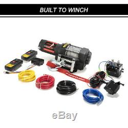 FieryRed 3500LBS Electric Winch Waterproof ATV UTE with Steel Cable Remote Control