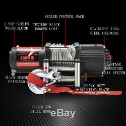 FieryRed 4500LBS Electric Winch for ATV UTE Offroad withSteel Cable Remote Control