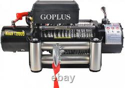 Goplus Classic 12000Lbs 12 V Electric Recovery Winch 4-Way Roller Remote Control
