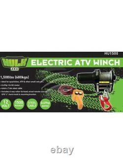 Hulk 4x4 Electric Winch 12V 1500Lb For Atv Steel Cable (HU1500)