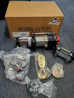 In Box 2500LB 24V Electric Winch Towing Steel Cable with all parts