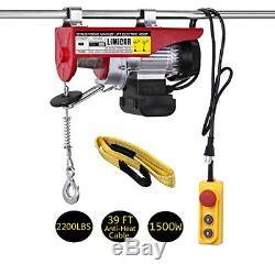 LIMICAR 2200LBS Overhead Lift Electric Hoist Crane Garage Ceiling Pulley Winch