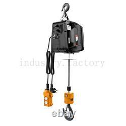 New 440 Lb Electric Cable Hoist Crane Lift Garage Auto Shop Winch WithRemote 110V