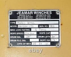 New Jeamar Marine Navy Mooring Electric Winch RK12000-150 Max Load 12.000 Lbs