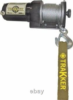 New Keeper Kt2000 12 Volt Electric 2000 Lb Winch Heavy Duty 50 Ft Cable