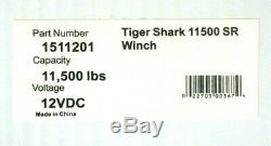 Nib Superwinch 1511201 Tiger Shark Ts 11500 Sr 12v Winch 11,500 Lbs Ts11500sr