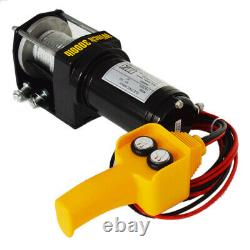 Off Road Electric Winch Single Line 12V 3000LbS Auto Car 12V Electric Recovery W