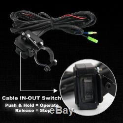 Offroad 4500LB Winch for ATV UTE 12V Electric Remote Waterproof Boat Steel Cable
