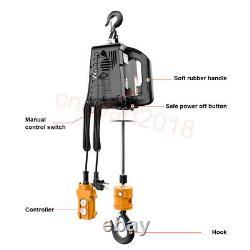 Portable 100-500KG Electric Hoist Winch Wire Hoist Crane Lifting Steel Rope 220V