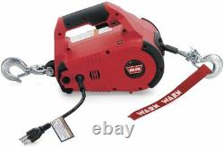 Portable Electric Lifting Pulling Winch Construction Garage 1000lb 120V Corded