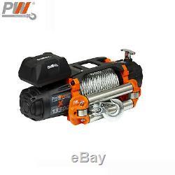 ProWinch 9,500 lbs Electric Waterproof Winch Steel Rope Steel Roller 24V Wire