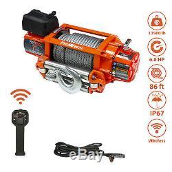 Prowinch 17,500 lbs Electric Waterproof Winch Steel Rope 24V Wireless