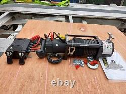 Recovery Electric Winch 12v Water Proof Recovery Truck Winch+synthetic Rope
