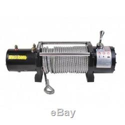 Remote Control Electric Recovery Winch 9500lbs 12V 4x4 Strong Wire Tract Durable