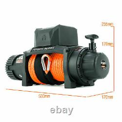 Rhino Electric Recovery Winch 12v 13500lb Carbon Series 4x4 Synthetic / Dyneema