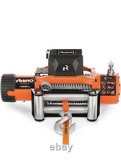 Rhino WInch 13500LB Winch 12V Electric Recovery Heavy Duty Steel Cable Kit NEW