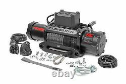 Rough Country 12,000 LB PRO Series Electric Winch 85 FT Synthetic Rope