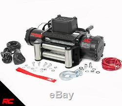 Rough Country 9500 LB Electric Winch 100 FT Steel Rope Fairlead Remote Hook