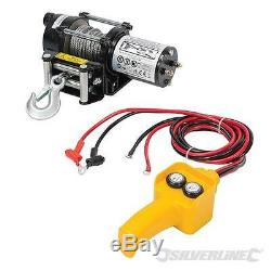 Silverline 2000lb 12V Electric Winch Recovery Car Truck ATV Workshop 3yr 748850