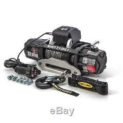 Smittybilt 98512 Winch/Synthetic Rope/Aluminum Fairlead/Textured Black 12000 lb