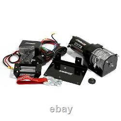 Speedmaster 2500lbs / 1130kgs 12V Electric ATV Winch Kit with Remote Switch