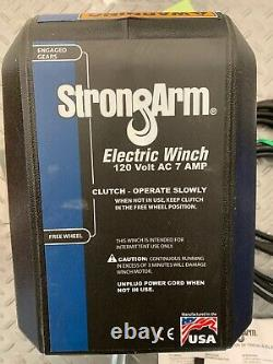 Strong Arm Model # SA12015AC 120 Volt AC Electric Winch 4000 Lbs P-2