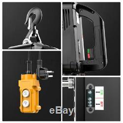 Superior 660 LBS Electric Wire Hoist Winch Hoist Crane Lift 110V Remote Control
