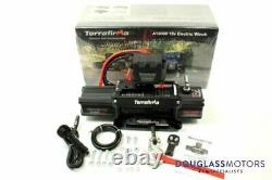 Terrafirma A12000 12v Electric Winch 12,000lb Synthetic Rope TF3301