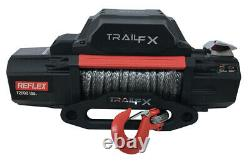 TrailFX 12V Electric Winch with Synthetic Rope & 12,000 lbs. Capacity WRS12B