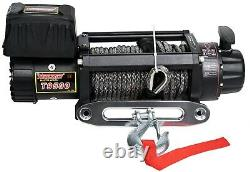 Tungsten4x4 9500 lbs 12V Electric Winch Synthetic Rope Truck Trailer Towing Jeep