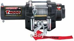 Tungsten4x4 T4000 1.6 HP 4000lbs ATV/UTV Electric Winch with Steel Cable
