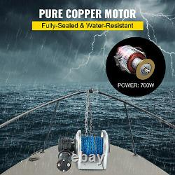 VEVOR 0.2x148' Electric Anchor WinchDrum Winch TW180 5500LB Load Rope Full Kit
