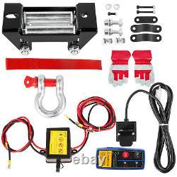 VEVOR 3500lbs Wireless Remote Electric Cable Winch 12V ATV Boat Roller Fairlead