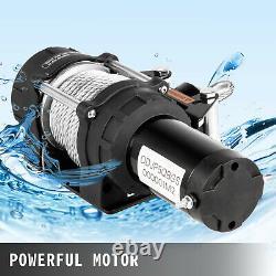 VEVOR 5000lbs Wireless Remote Electric Cable Winch 12V ATV Boat Roller Fairlead
