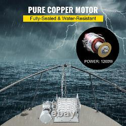 VEVOR 6600lbs/3000kg Electric Anchor WinchDrum Winch Load0.3x295' Rope Full Kit