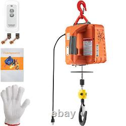 VEVOR Electric Hoist Winch Portable Crane 1100lbs 25ft Wireless Remote Control