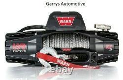 WARN 103253 VR EVO 10-S 10000lb Winch 12V Hawse Fairlead 90' 3/8 Synthetic Rope