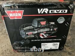 WARN 103253 VR EVO 10-S Standard Duty Winch with Synthetic Rope 10,000 lb Cap