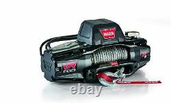 WARN 103255 VR EVO 12-S Standard Duty Winch with Synthetic Rope 12,000 lb. Cap